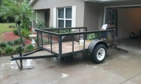 5 by 8 utility trailer heavy duty trailer
