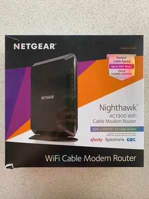 Netgear Nighthawk AC1900 WiFi Cable Modem Router for Sale in Mission Viejo, CA