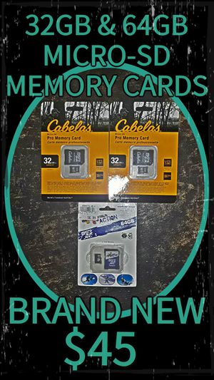 32gb & 64gb Micro-SD Memory Cards for Sale in Lakewood, WA