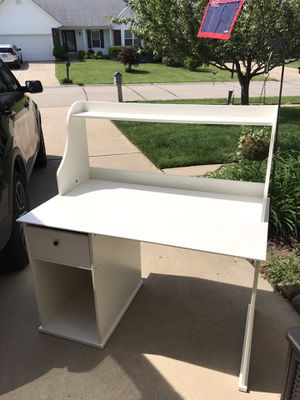 White desk with drawer and sliding table for Sale in St. Peters, MO