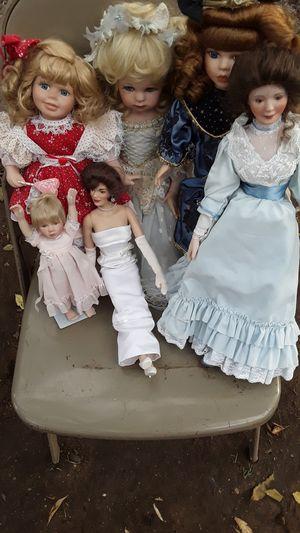 6 antique porcelain dolls together one package $300 for Sale in Denver, CO