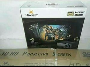 """Odyssey 4k Projector with 72"""" Screen for Sale in Winter Haven, FL"""