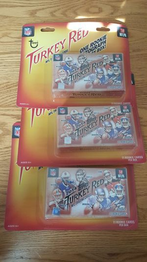 3 Sealed Boxes of 2014 Topps Turkey Red Football Cards for Sale in Columbia, MO