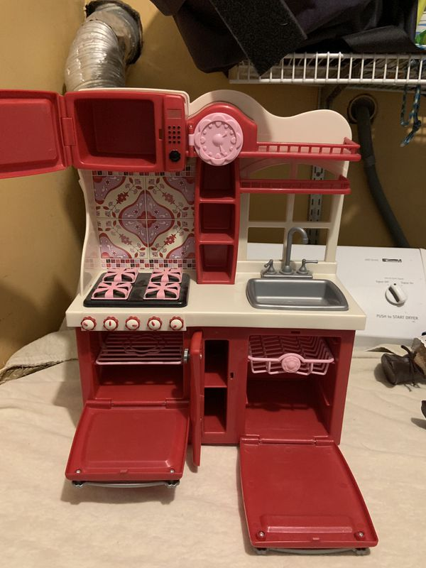 """Our generation sink, dishwasher , microwave , stove for an 18"""" doll"""