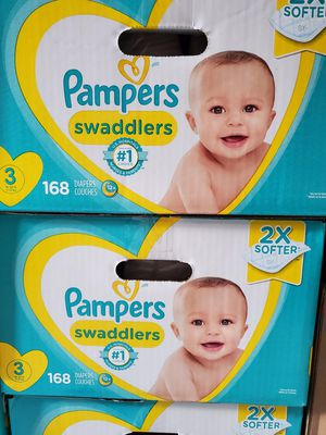 Pampers swaddlers size 3 diapers $40 each for Sale in LA CANADA FLT, CA
