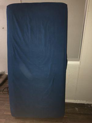 Twin Mattress w/ Navy Blue Bed Sheet for Sale in Phoenix, AZ