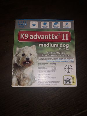 K9 Advantix II for medium dog 11-20lbs **3 DOSES ONLY** for Sale in Laredo, TX