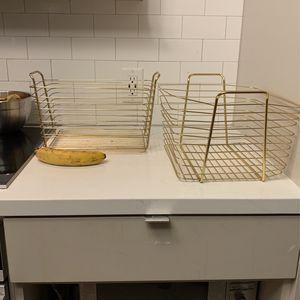 2 Large Decorative Gold Baskets for Sale in Washington, DC