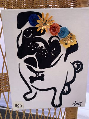 Pug art canvas for Sale in Long Beach, CA