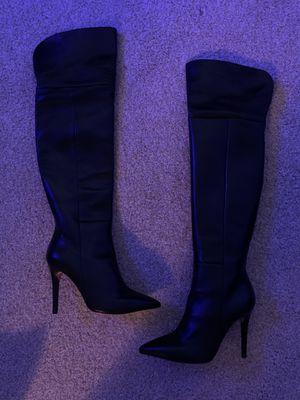 Thigh high black sheep skin boot for Sale in Strongsville, OH