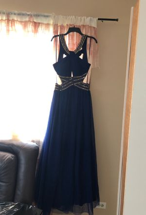 Beutiful baby blue and gold dress for Sale in Prospect Heights, IL
