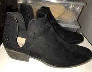 Black Suede Ankle Boots for Sale in Vallejo, CA