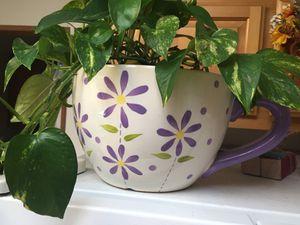Giant teacup plant holder for Sale in Salt Lake City, UT