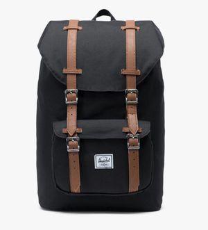 Herschel Black/Tan Synthetic Backpack for Sale in Deerfield Beach, FL