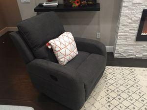 Dark grey recliner new! for Sale in Glendale, AZ