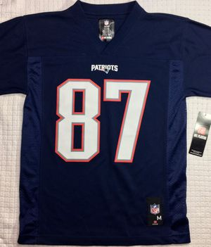 $25 BRAND NEW NFL Team Apparel Youth New England Patriots Jersey #87 Gronkowski Size M(10/12) for Sale in WA, US