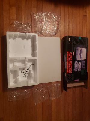 Super Nintendo SNES console box and styrofoam only for Sale in Crystal City, MO