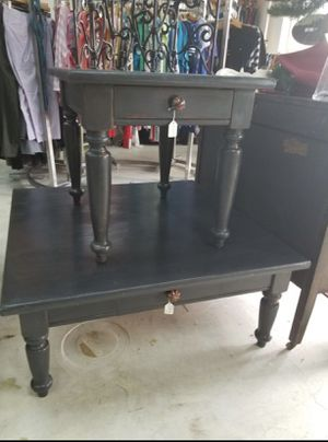 Grey coffee table & matching side table for Sale in West Palm Beach, FL