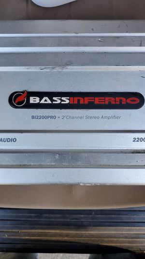 Bass Inferno 2200W 2-ch amplifier for Sale in Eugene, OR