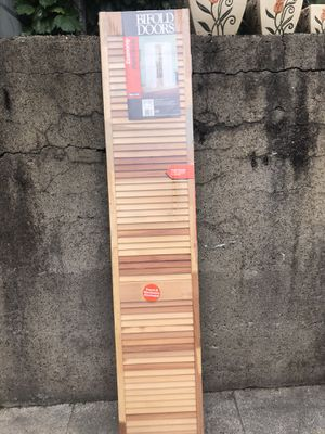 """Wood bifold door 30""""x80"""" new sealed in plastic for Sale in Pittsburgh, PA"""