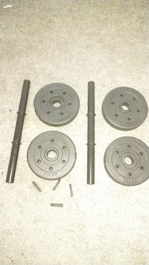 4 2.5 Vinyl Weights (Small Bar is included) for Sale in High Point, NC
