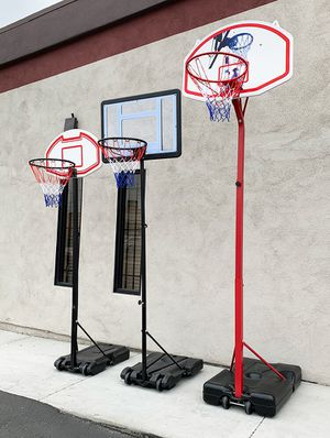 New Kids Junior Basketball Hoop Adjustable Height (3 Sizes: Small $45, Medium $65, Large $75) for Sale in South El Monte, CA