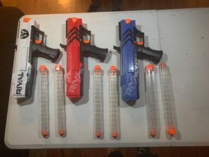 3 rival nerf gun and 6 large rival mag for Sale in Richmond, CA