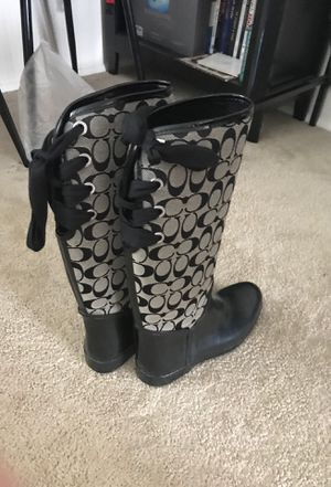 Designer Coach Rain Boots for Sale in Baltimore, MD