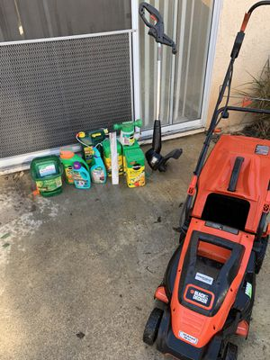 Lawn mower, trimmer, and miscellaneous supplies for Sale in Rancho Santa Margarita, CA