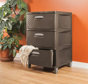 Sterilite 3 drawer Woven Storage Colour-Espresso for Sale in Boston, MA