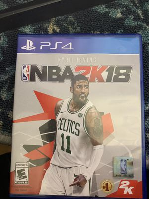 NBA 2k18 ps4 for Sale in Alexandria, VA