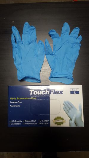 🚨 Blue Nitrile Gloves | No Powder -> Small Medium Large X-Large for Sale in East Los Angeles, CA