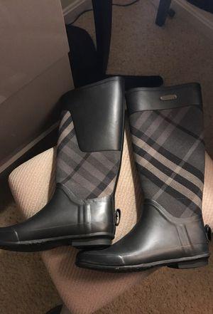 Burberry rain boots 8 for Sale in Fairfax, VA