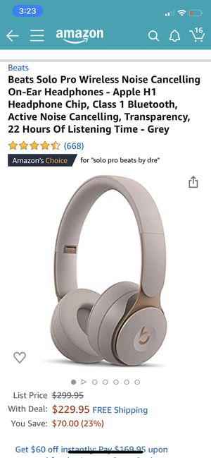 Beats Solo wireless headphones for Sale in Euclid, OH