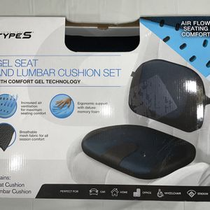 Type S Gel Seat and Lumbar Cushion Set for Sale in East Providence, RI