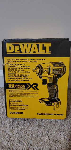 DEWALT 20-Volt Max Lithium-Ion 3/8 in. Cordless Compact Impact Wrench (Tool-Only for Sale in Bakersfield, CA