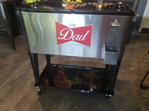 Custom Cooler, Fathers day, man cave any logo for Sale in Perris, CA