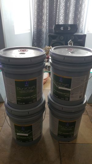 Exterior house paint 4 buckets for only $200 firm for Sale in Las Vegas, NV