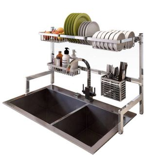 NEW! Dish Drying Rack Over the Sink,Premium Stainless Steel Display Non-slip Large Drainer Shelf for Kitchen Supplies Counter Storage Organizer Utens for Sale in Stuart, FL
