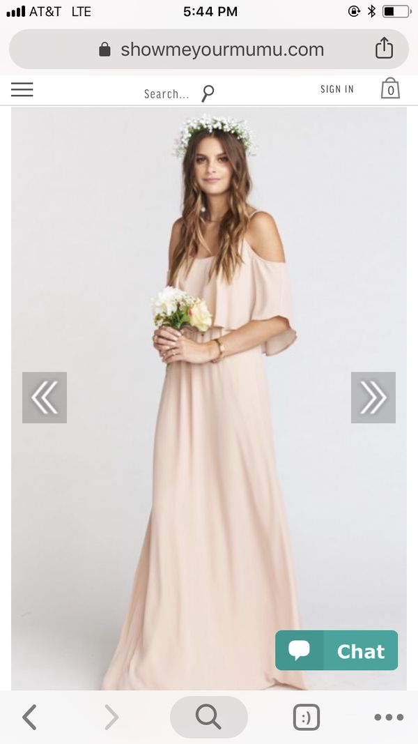 a11a804591a Show me your mumu bridesmaid dress - CAITLIN RUFFLE MAXI DRESS ~ DUSTY BLUSH  CRISP