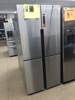 Haier 4 Door Stainless steel French Refrigerator on sale for Sale in Norcross, GA
