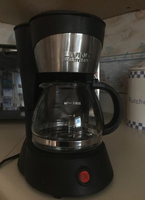 LIVING SOLUTIONS 5 Cup Coffee Maker for Sale in Bradenton, FL
