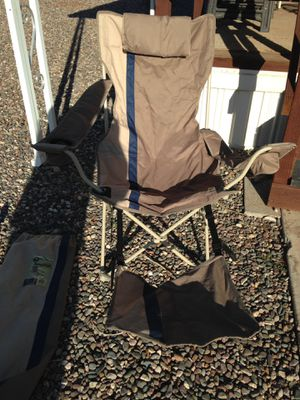 Camp chair with foot rest for Sale in Peoria, AZ