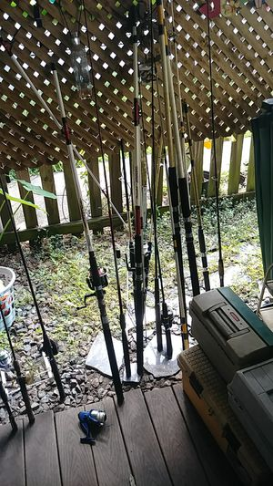Fishing poles and reels plus tackle for Sale in Seffner, FL
