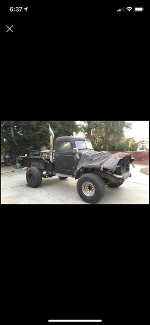 1999 4/4 3500 dodge diesel. Base , 1941 dodge power wagon cab and bed , need more fabrication to Finiget , suspension transmission and motor work go for Sale in Ontario, CA