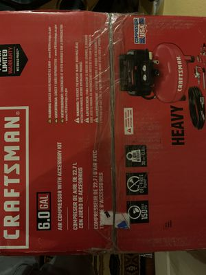 Craftsman 6 gallon air compressor brand new for Sale in Las Vegas, NV