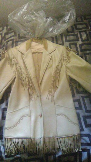 Vintage leather fringe jacket for Sale in Albuquerque, NM