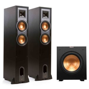 Klipsch R-26F Tower Speakers (2) Klipsch R-10SW Subwoofer (1) for Sale in Poway, CA