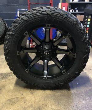 "20x10 Fuel D556 Black Coupler Wheels Rim 35"" MT Tires 5x5.5 Dodge Ram 1500 for Sale in Tampa, FL"