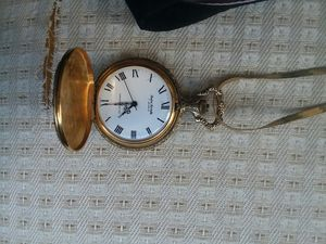 Antique pocket watch andre rivalle cold chain engraved reindeer design for Sale in Honolulu, HI